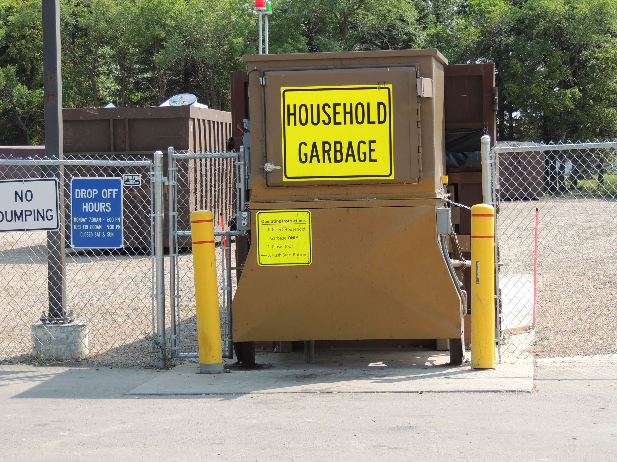 Household Garbage Drop-Off Compactor - Available 24/7
