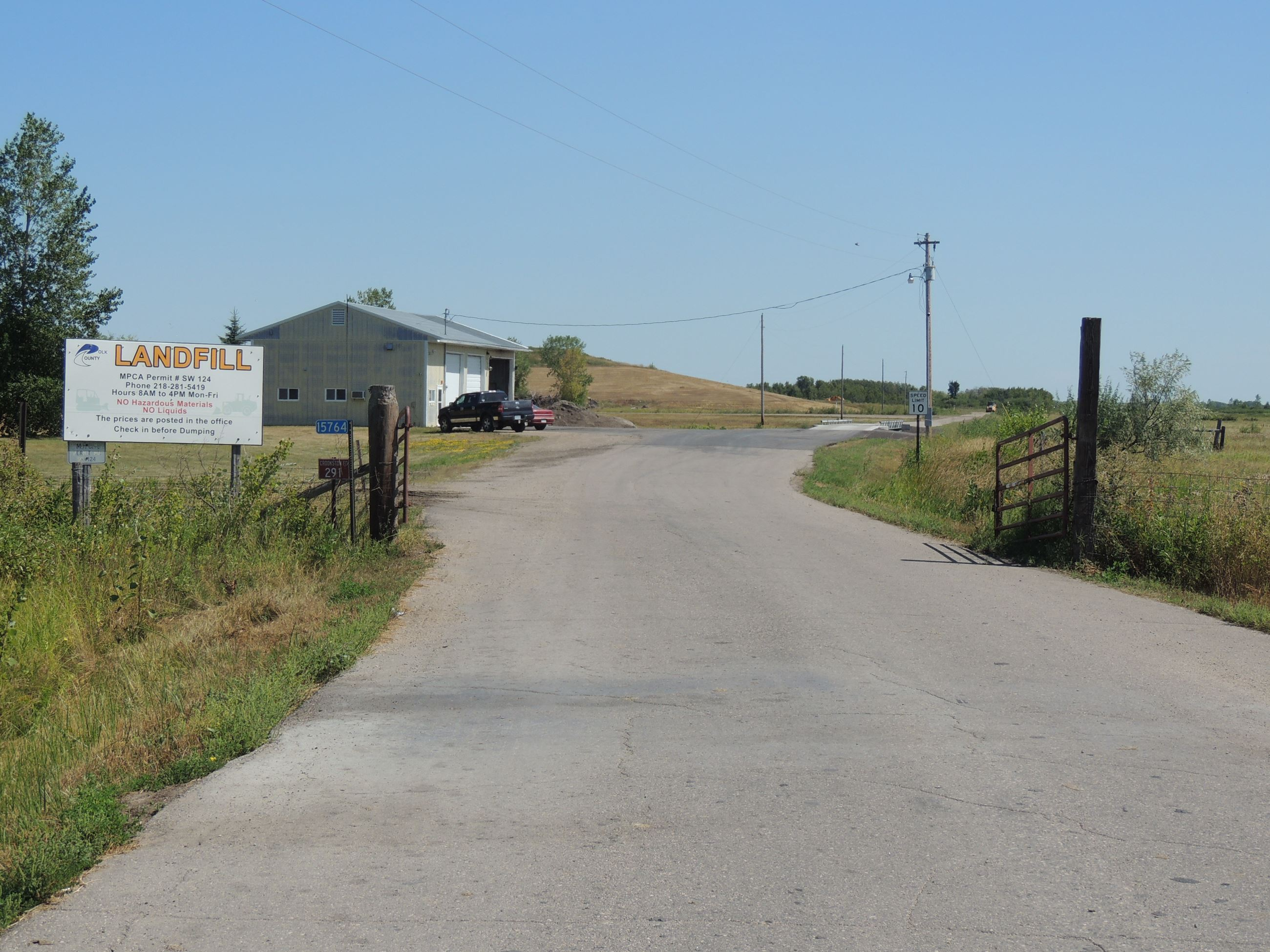 Polk County Landfill Front Gate