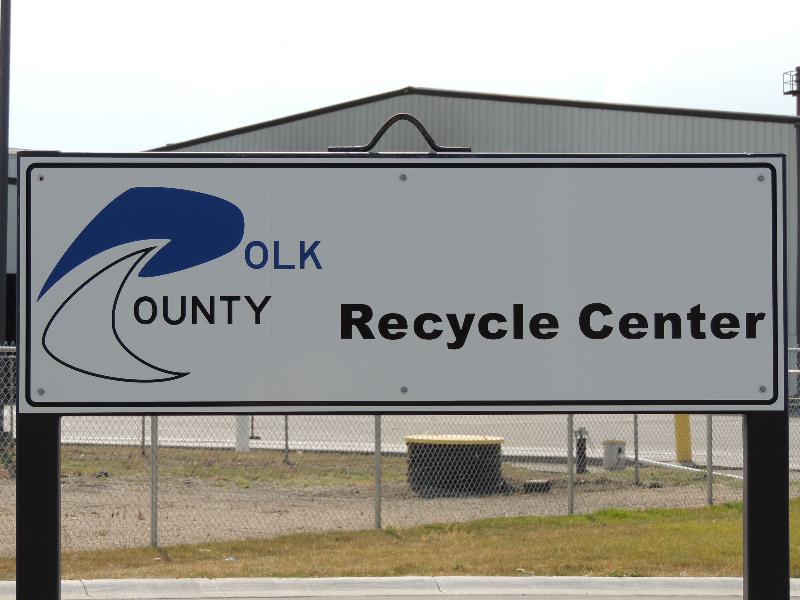 Polk County Recycle Center Sign