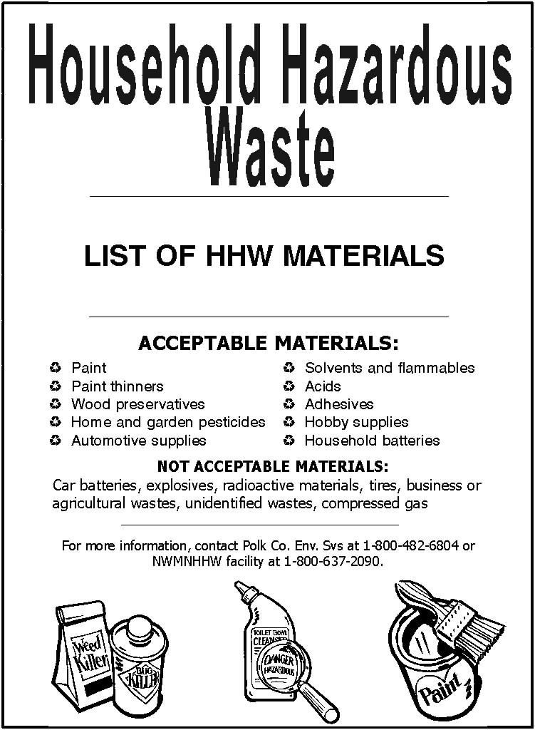 List of Acceptable Household Hazardous Wastes (HHW) Items (JPG) Opens in new window